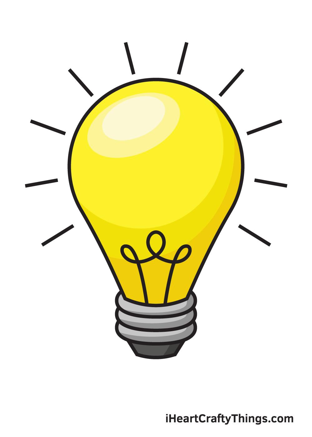 light bulb drawing 9 steps