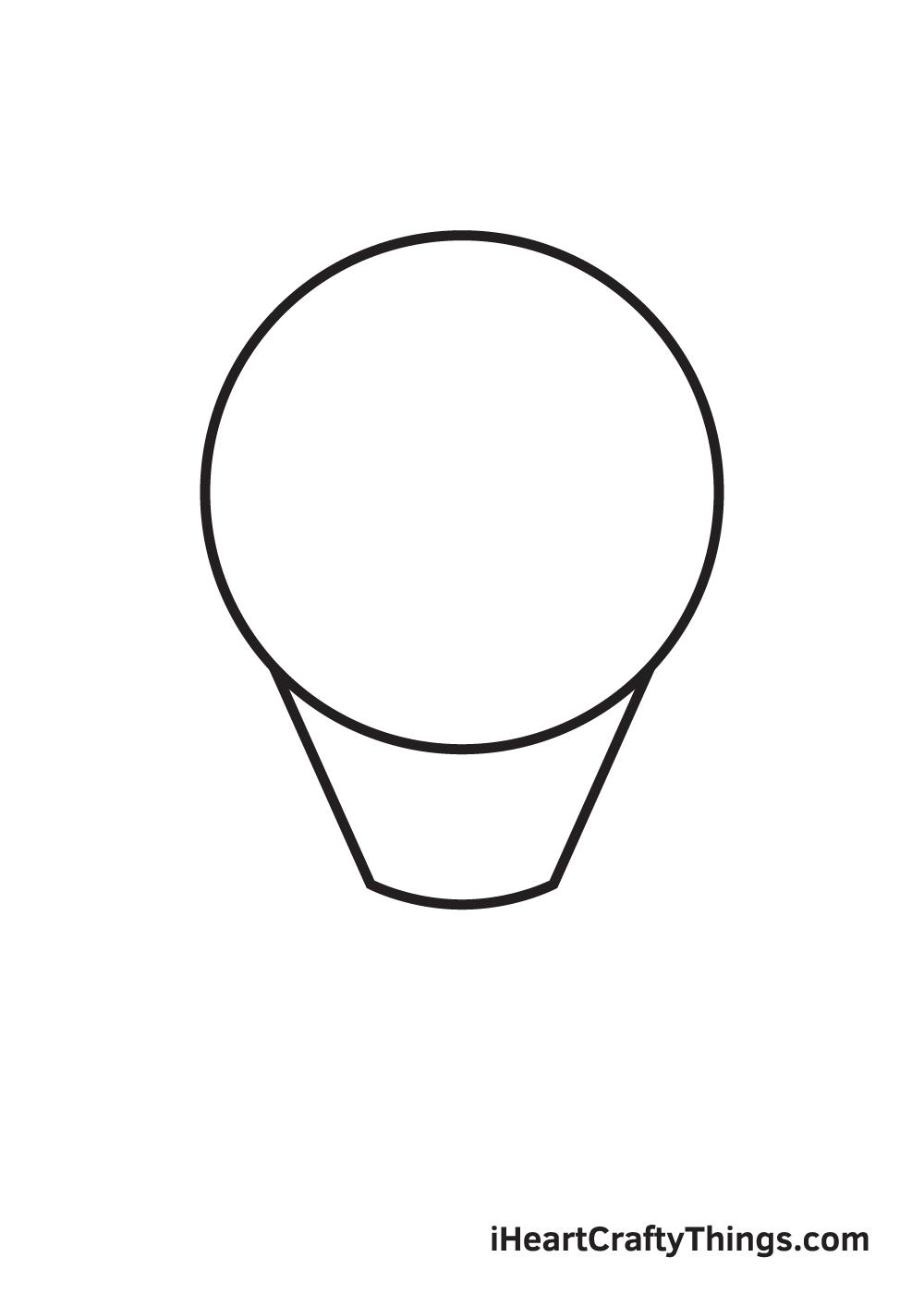 light bulb drawing step 2