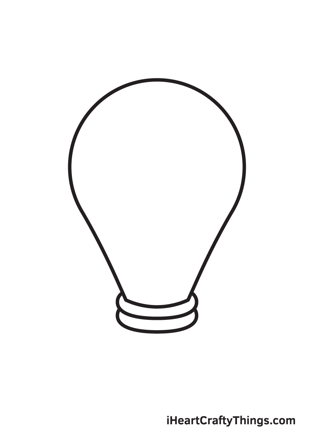 light bulb drawing step 5