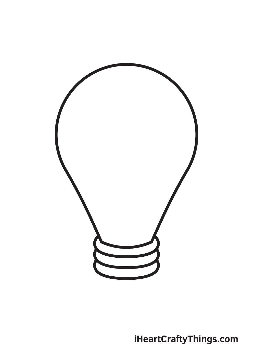 light bulb drawing step 6