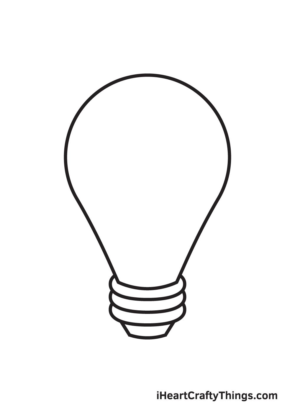 light bulb drawing step 7