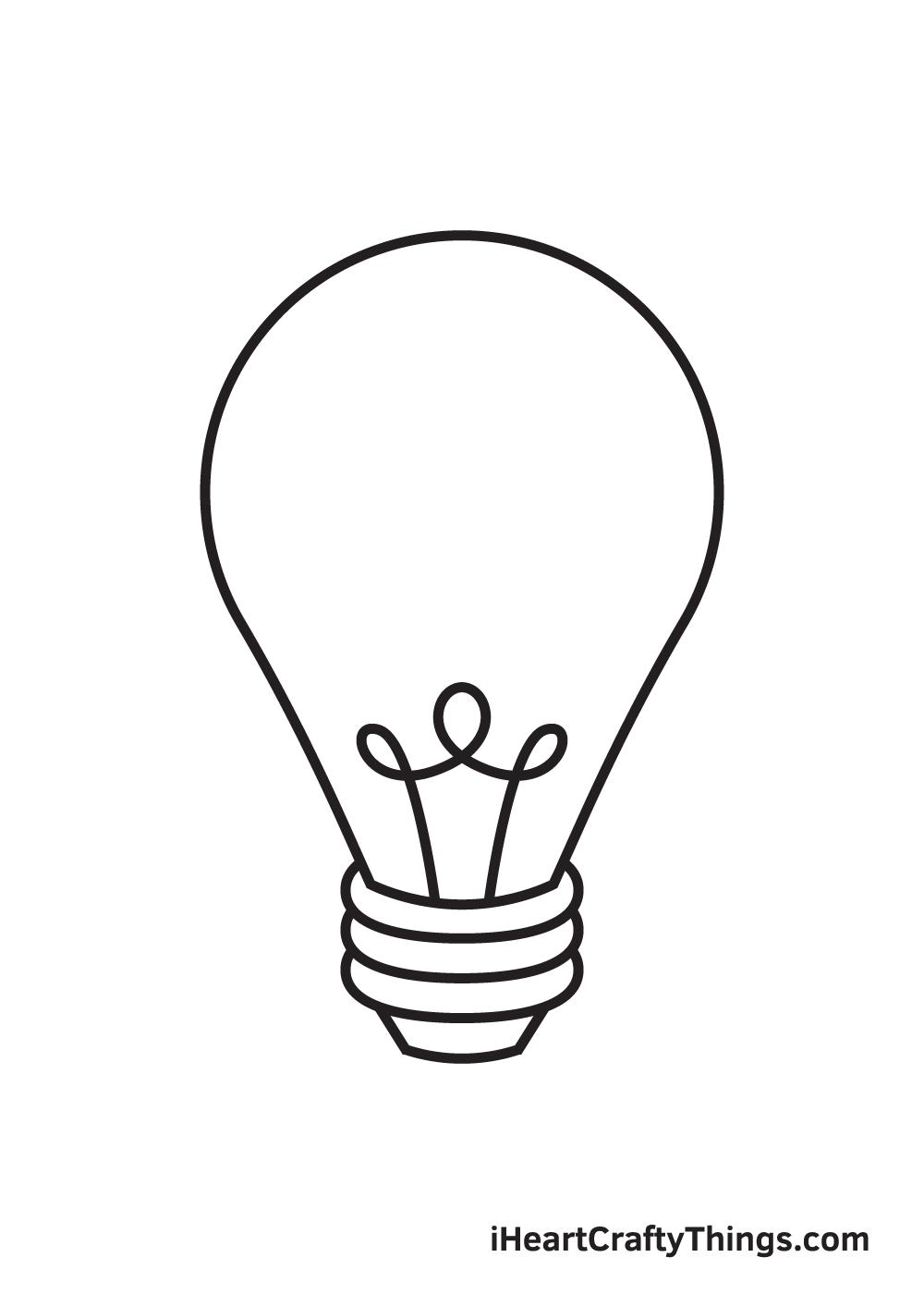 light bulb drawing step 8