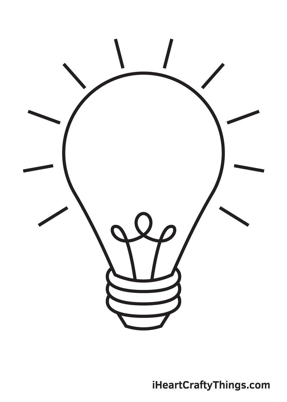 light bulb drawing step 9