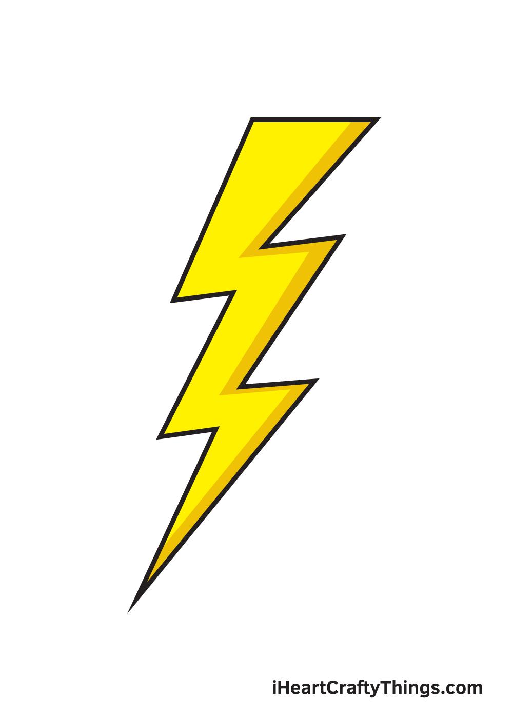 lightning bolt drawing 9 steps