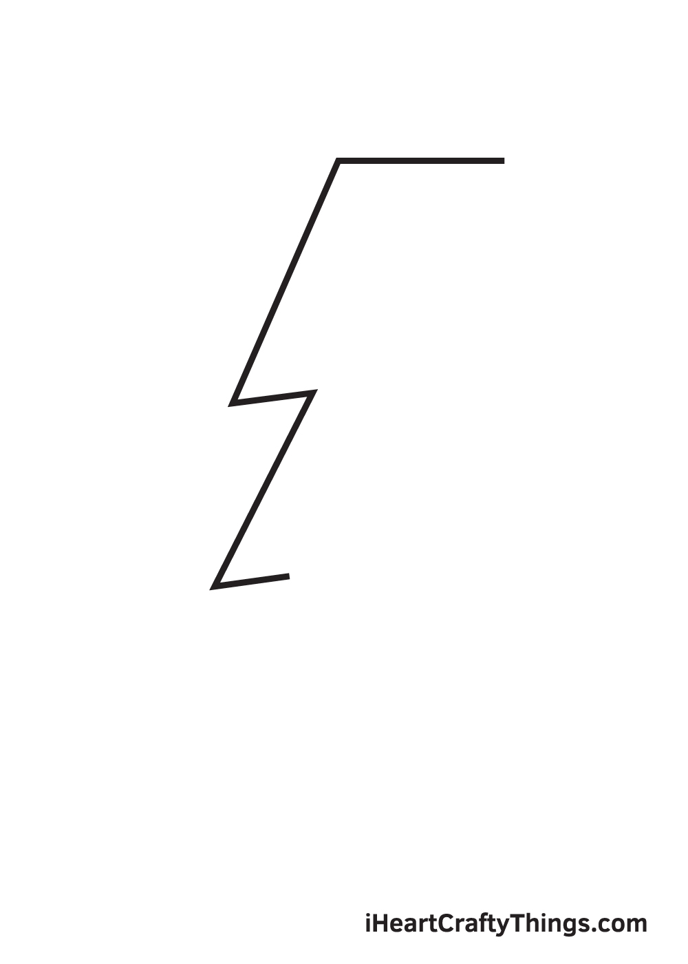 lightning bolt drawing step 3