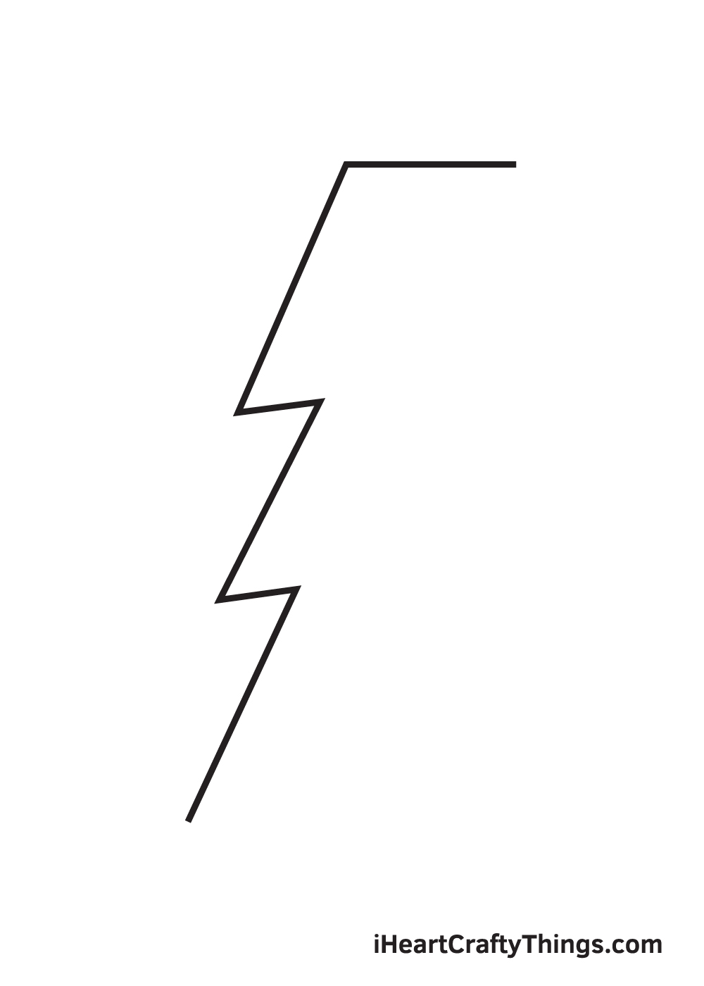 lightning bolt drawing step 4