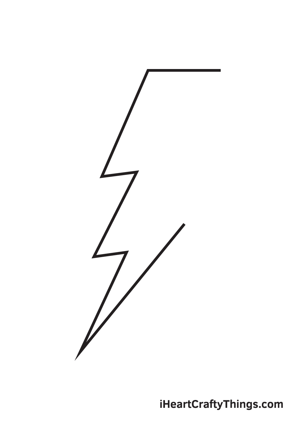 lightning bolt drawing step 5