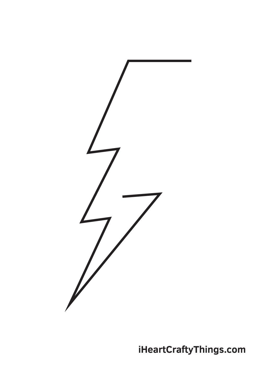 lightning bolt drawing step 6