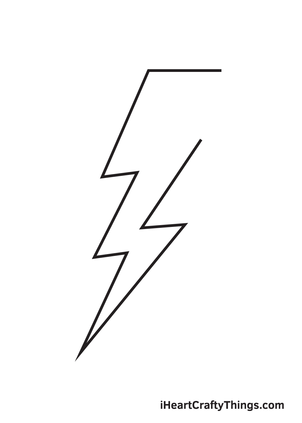 lightning bolt drawing step 7