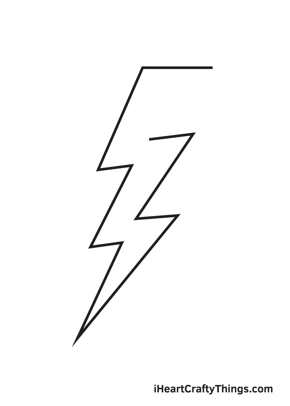lightning bolt drawing step 8