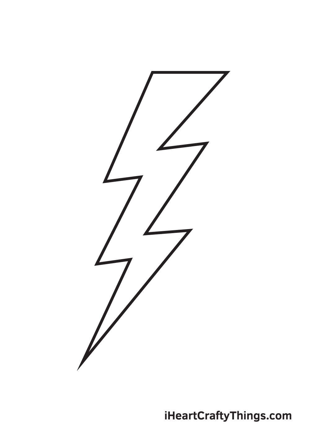 lightning bolt drawing step 9
