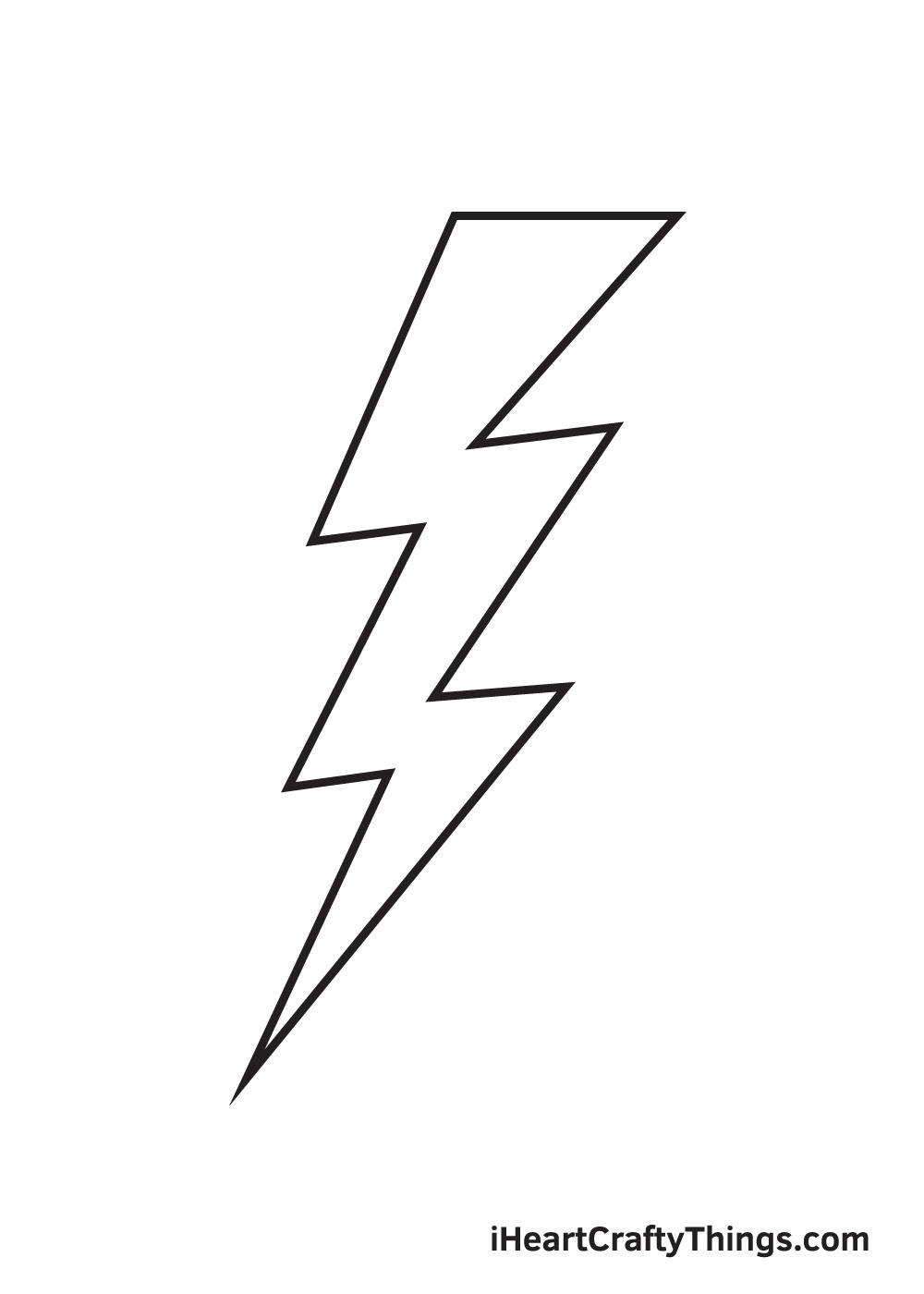 lightning bolt drawing step 9