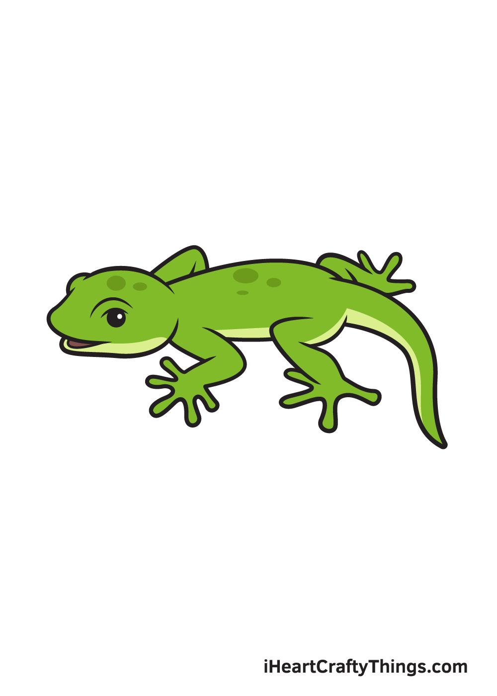lizard drawing 9 steps