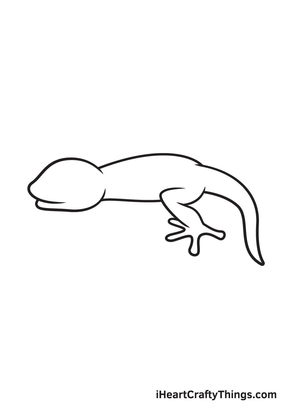 lizard drawing step 5