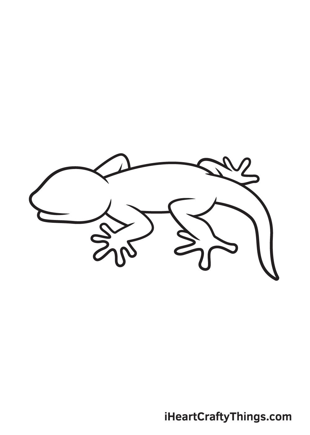 lizard drawing step 8