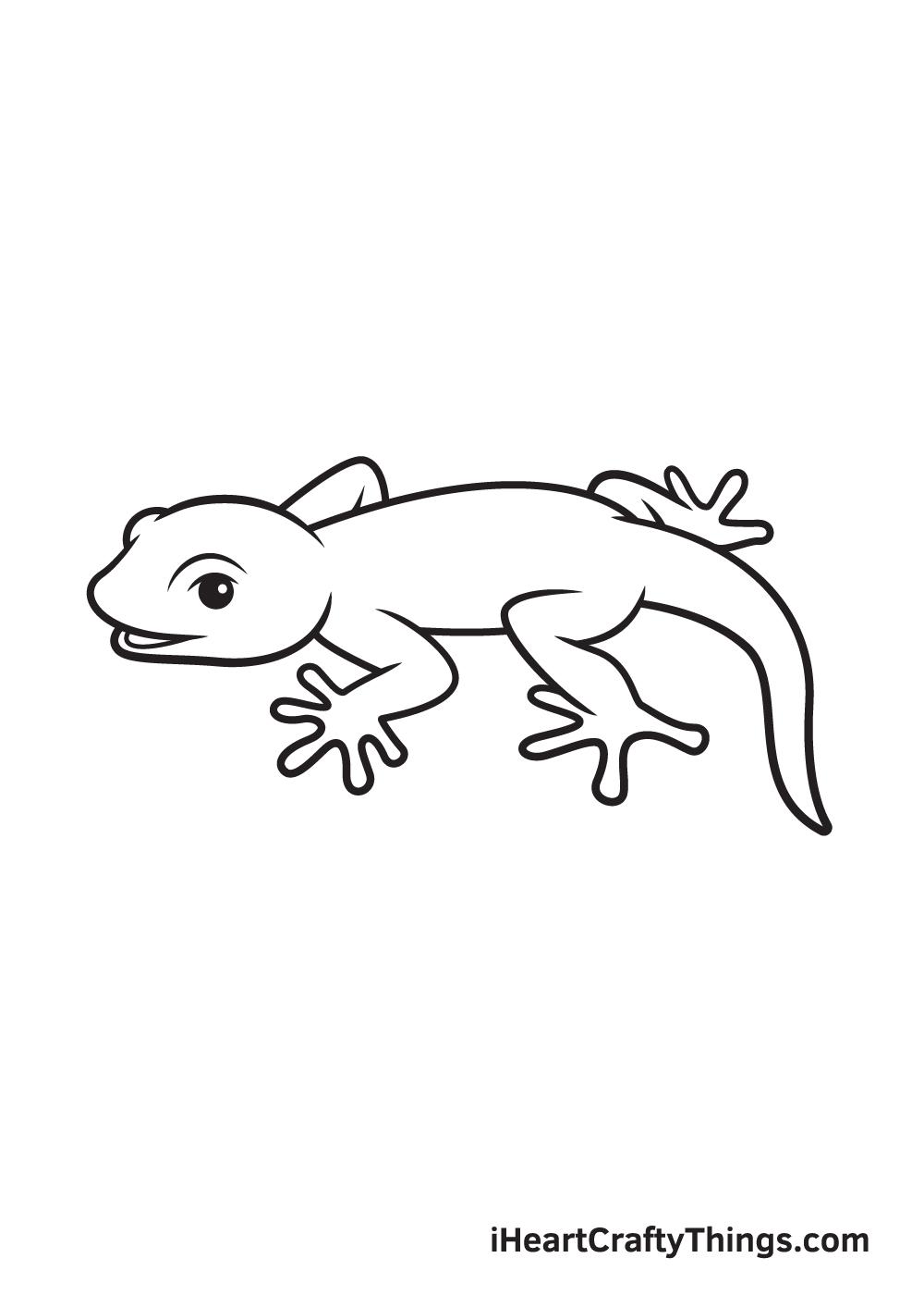 lizard drawing step 9
