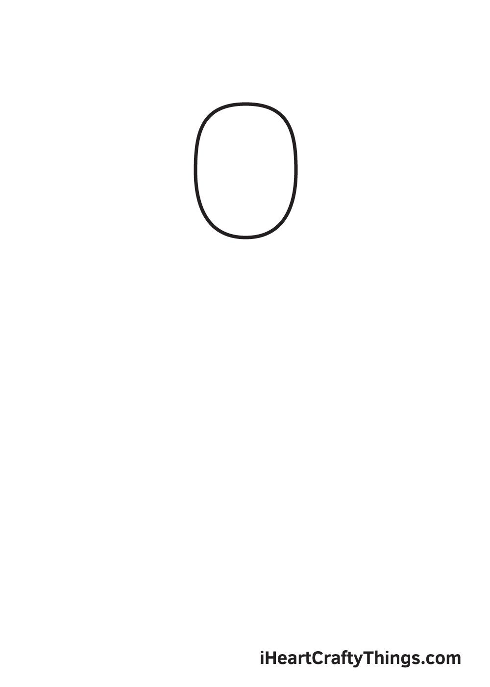 man drawing step 1