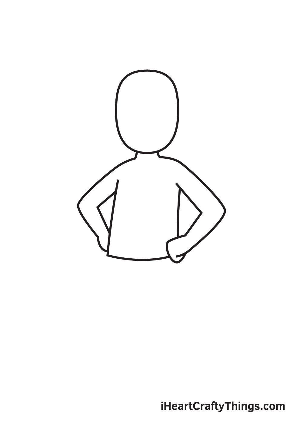 man drawing step 3