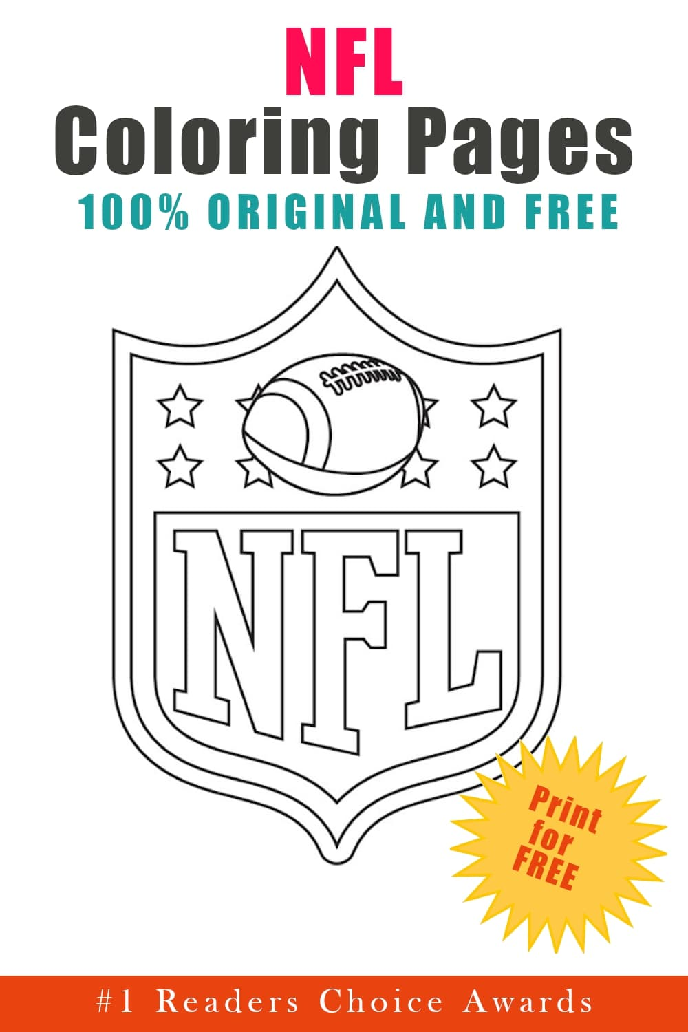 NFL coloring pages printable black and white logo