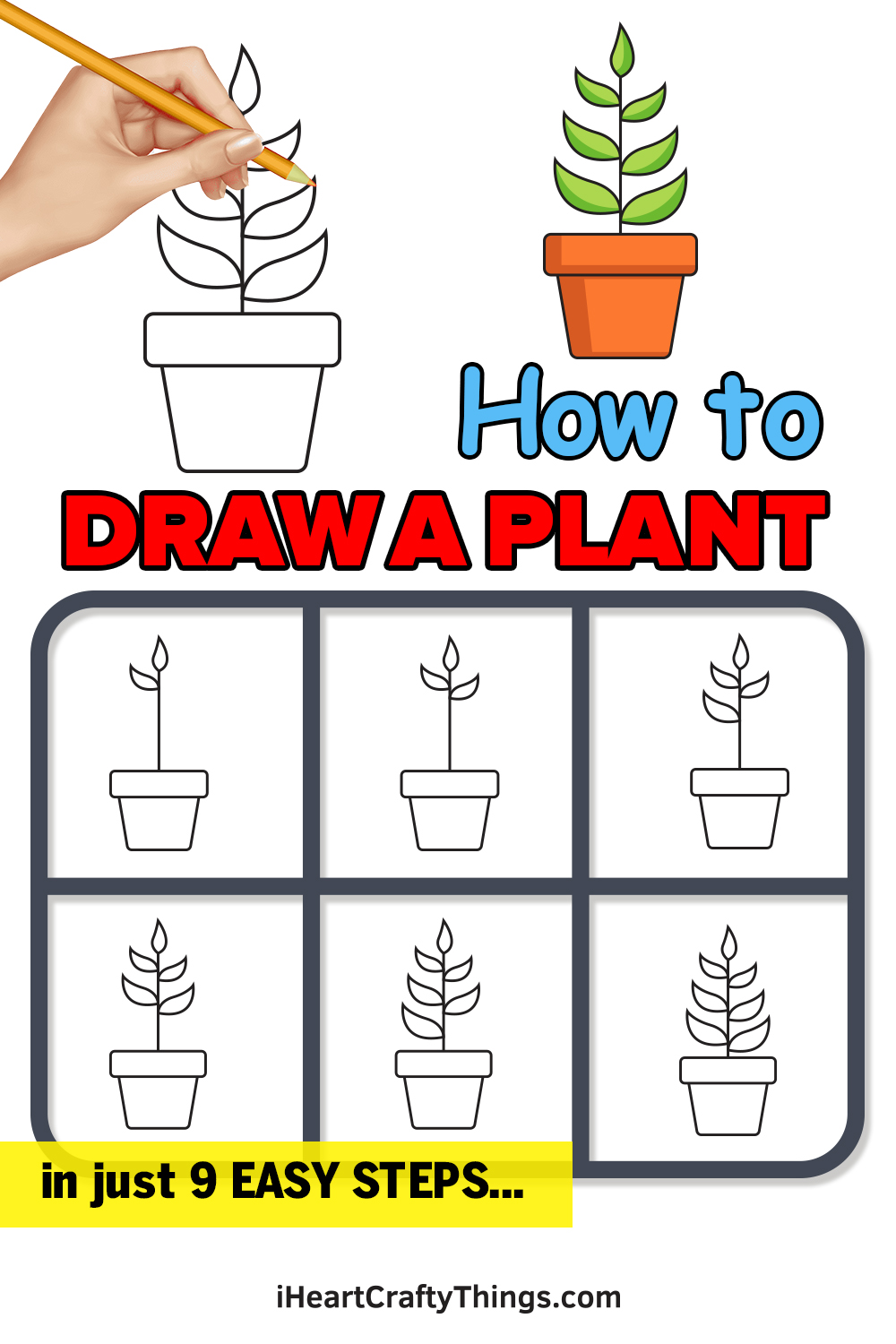 How to Draw a Plant in 9 Easy Steps