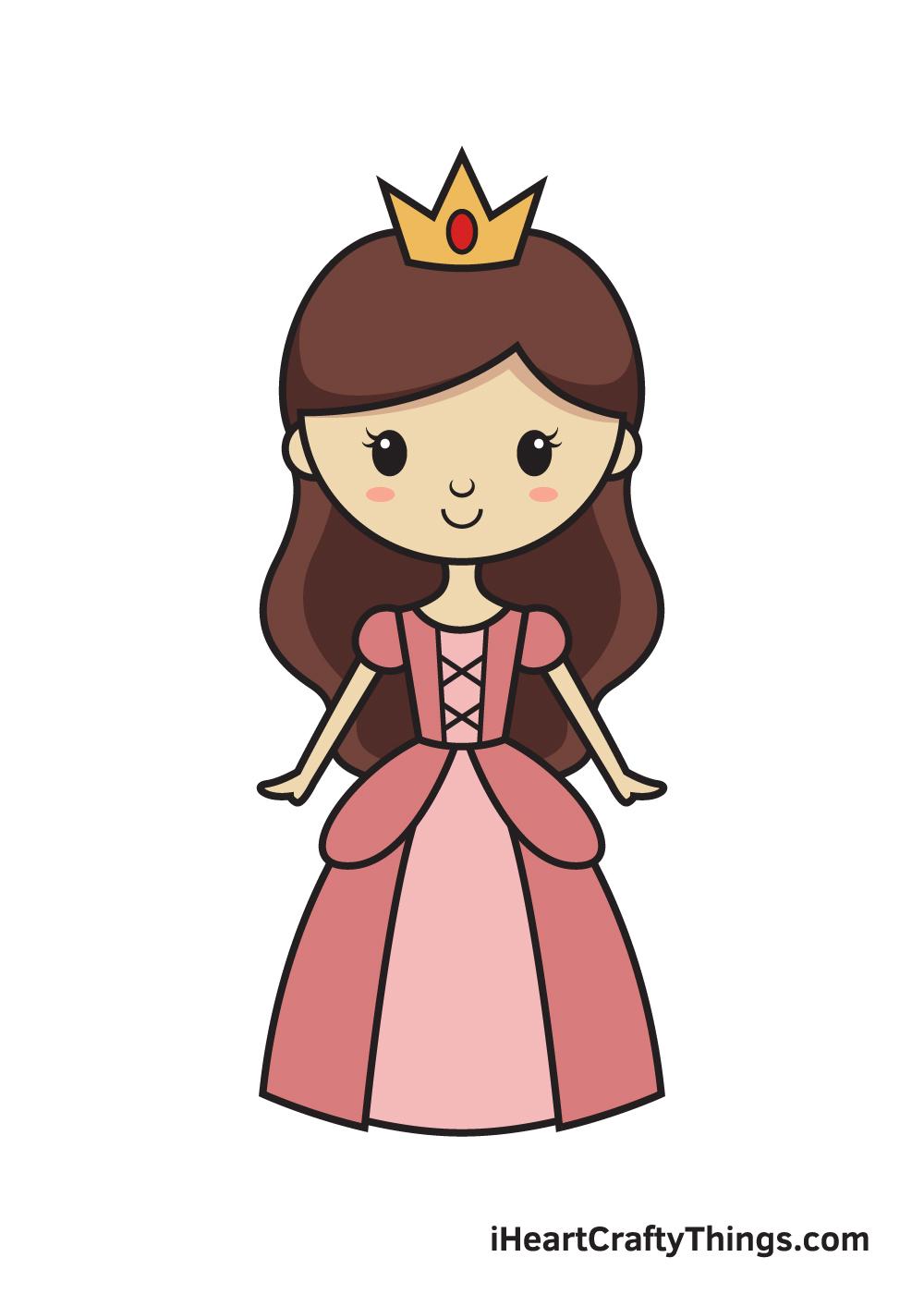 Princess Drawing – 9 Steps