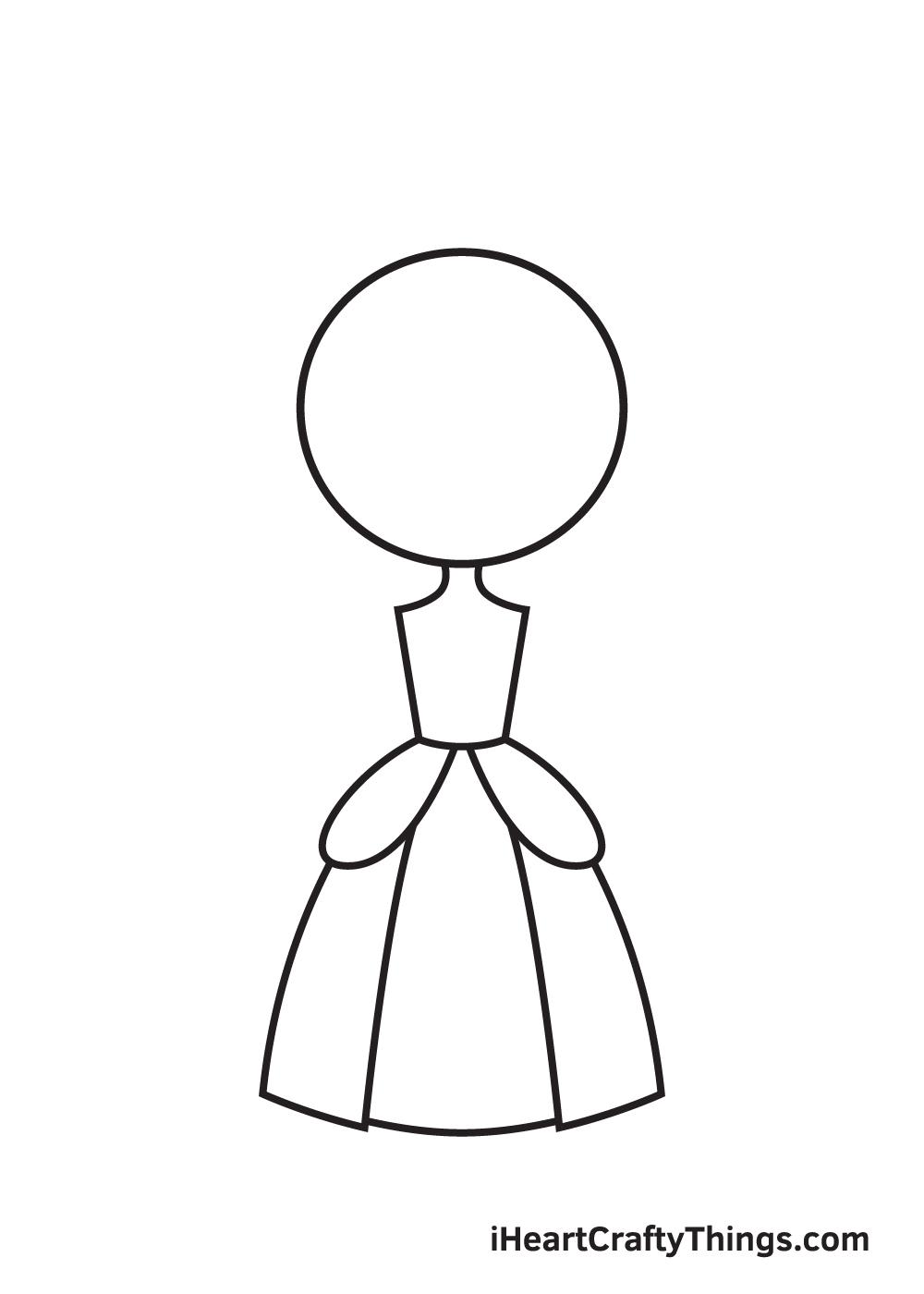 Vẽ công chúa - Bước 4