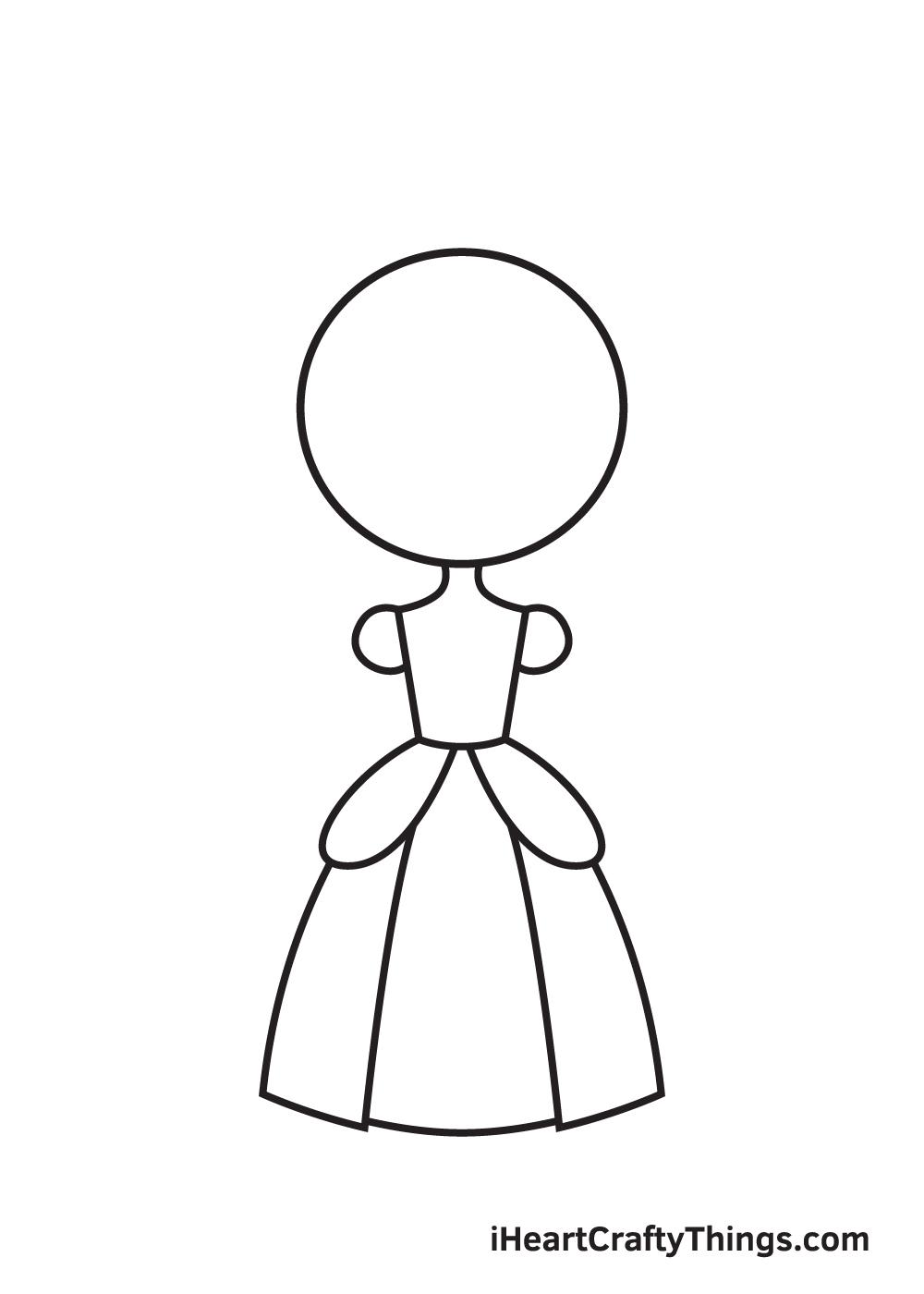 Vẽ công chúa - Bước 5
