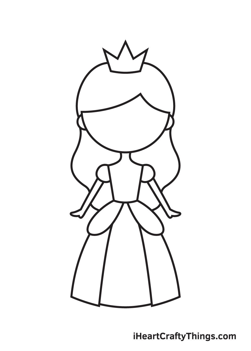 Vẽ công chúa - Bước 7