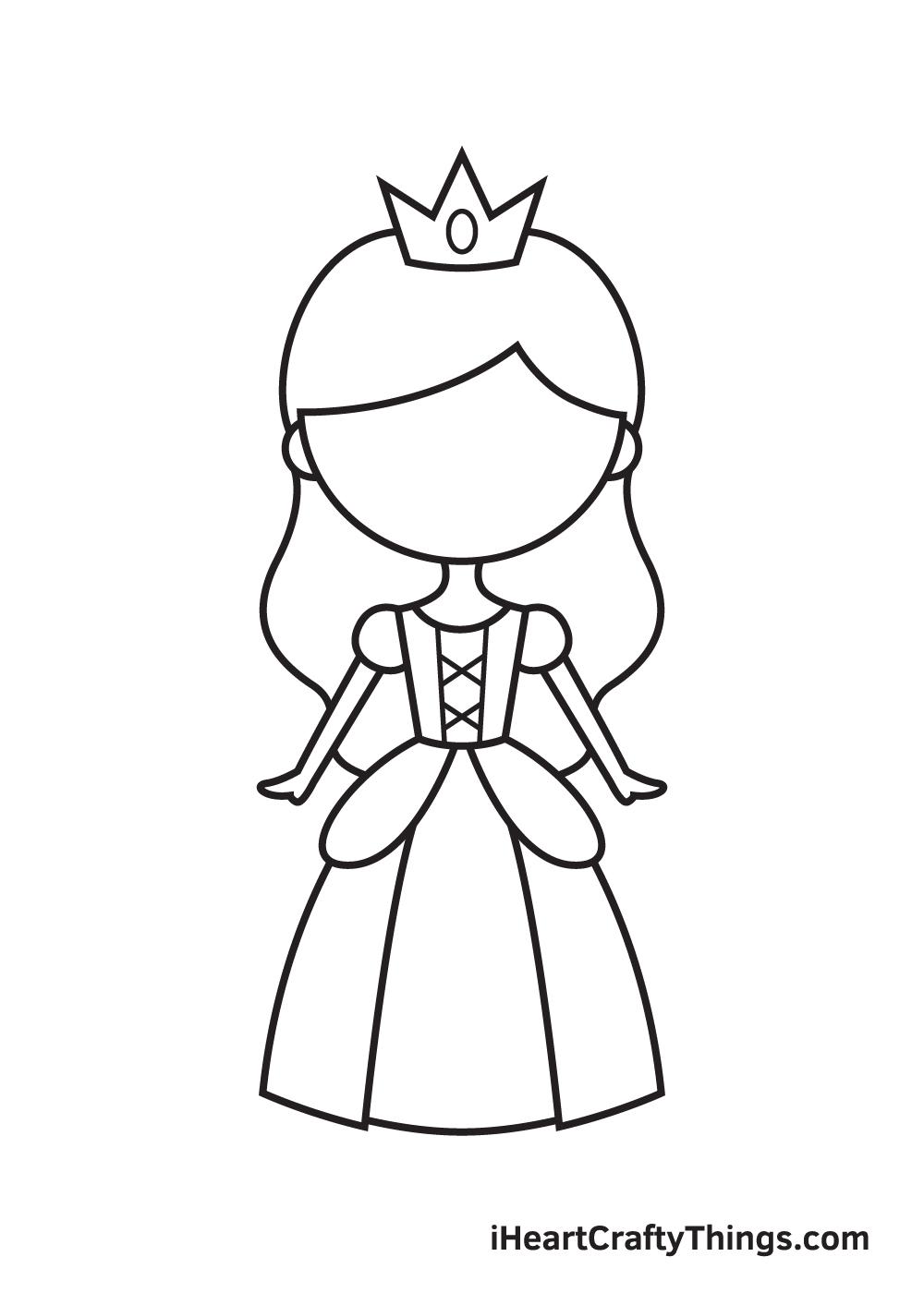 Vẽ công chúa - Bước 8
