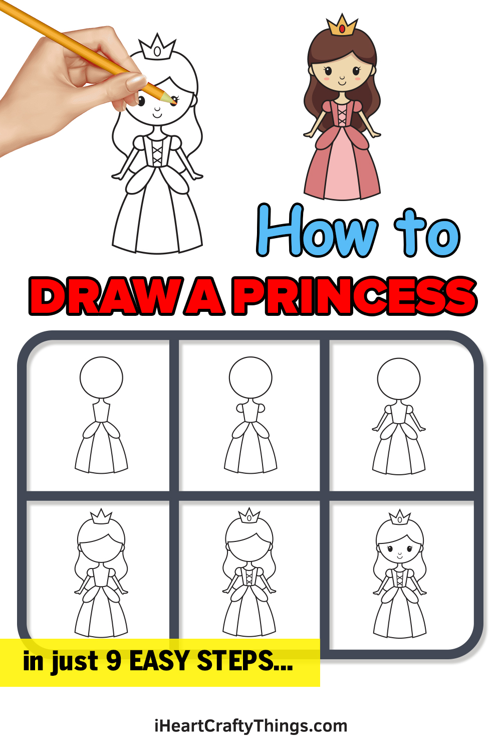 How to Draw Princess in 9 Easy Steps