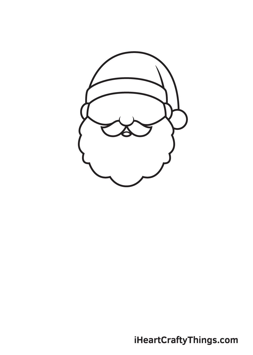 Santa Claus Drawing – Step 3