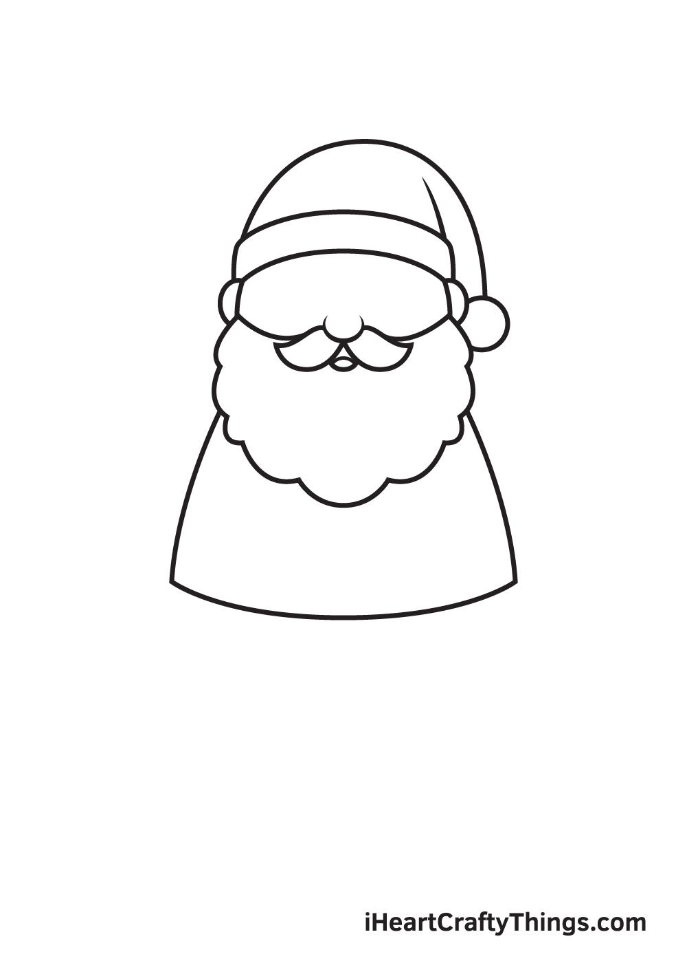 Santa Claus Drawing – Step 4