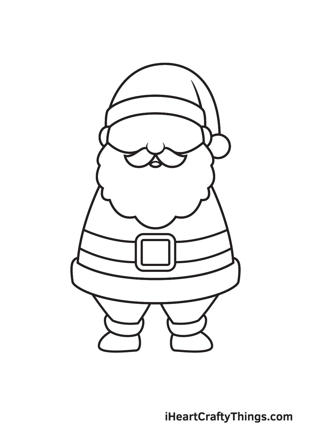 Santa Claus Drawing – Step 7