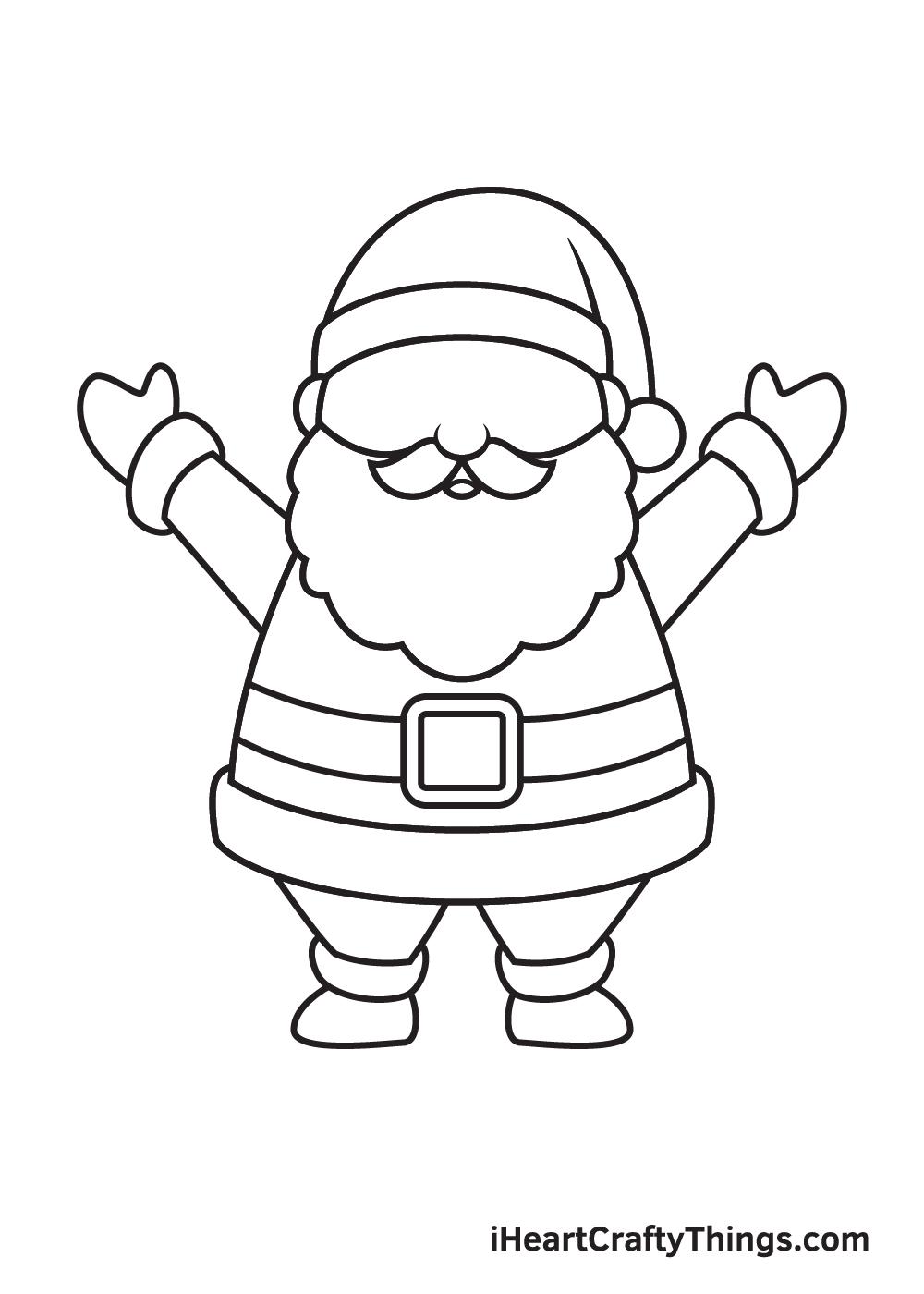 Santa Claus Drawing – Step 8