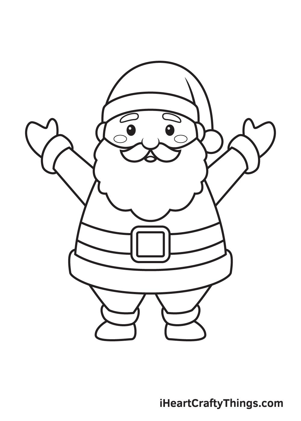 Santa Claus Drawing – Step 9