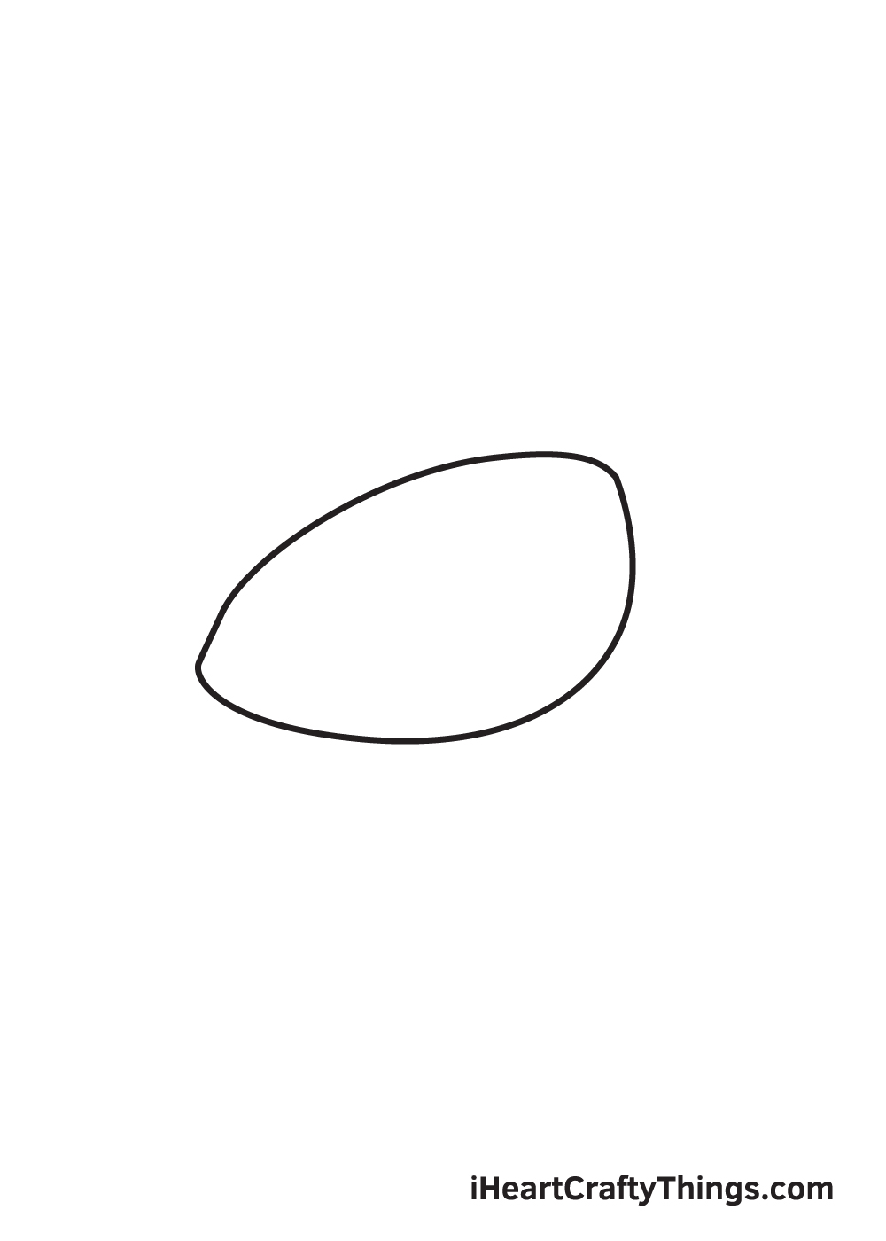 Sea Turtle Drawing– Step 1