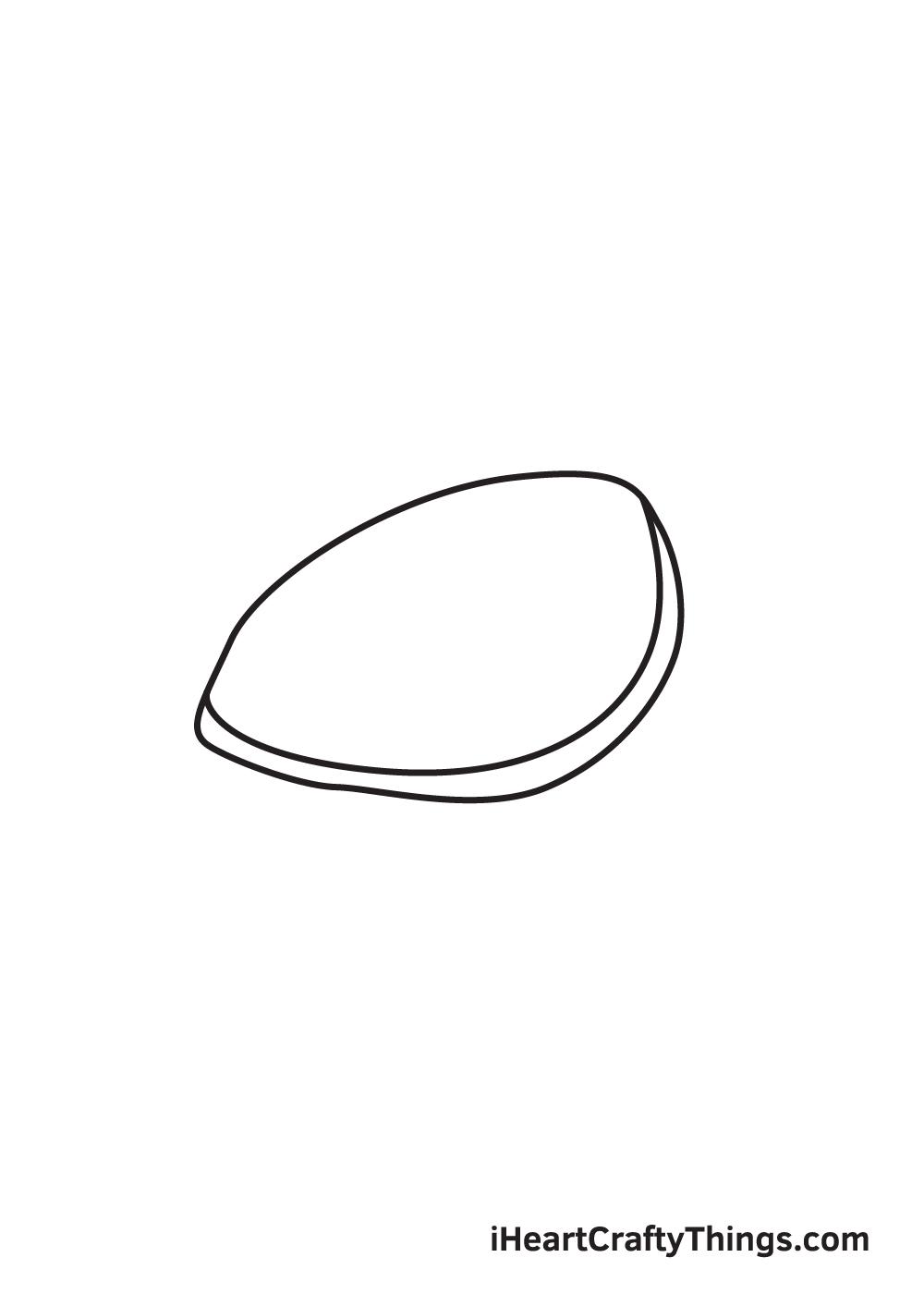 Vẽ rùa biển - Bước 2