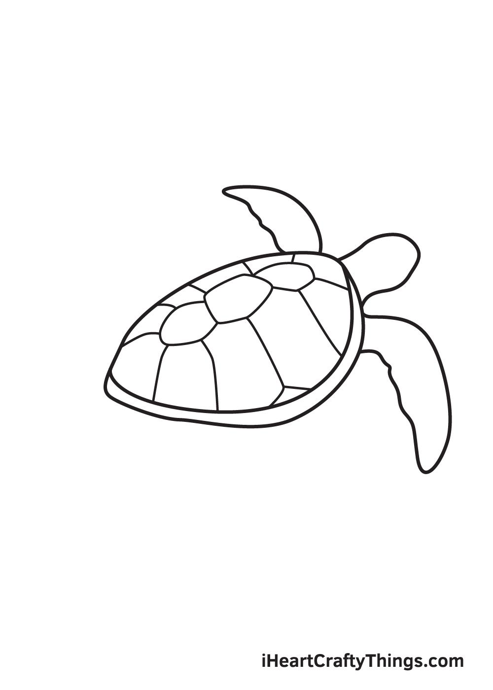 Vẽ rùa biển - Bước 7