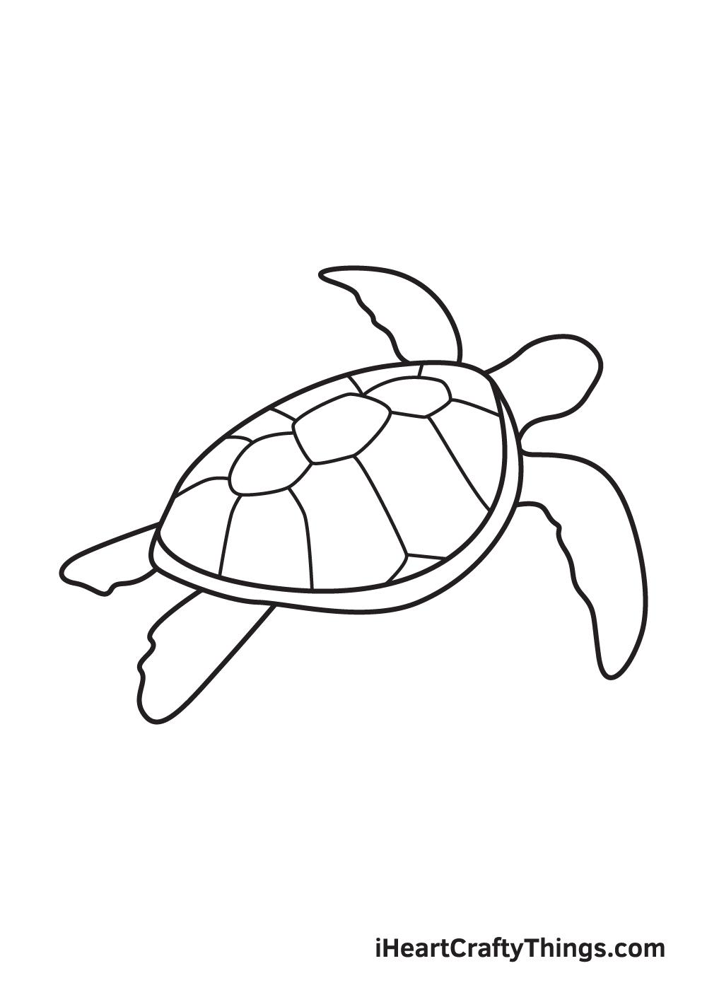 Vẽ rùa biển - Bước 8