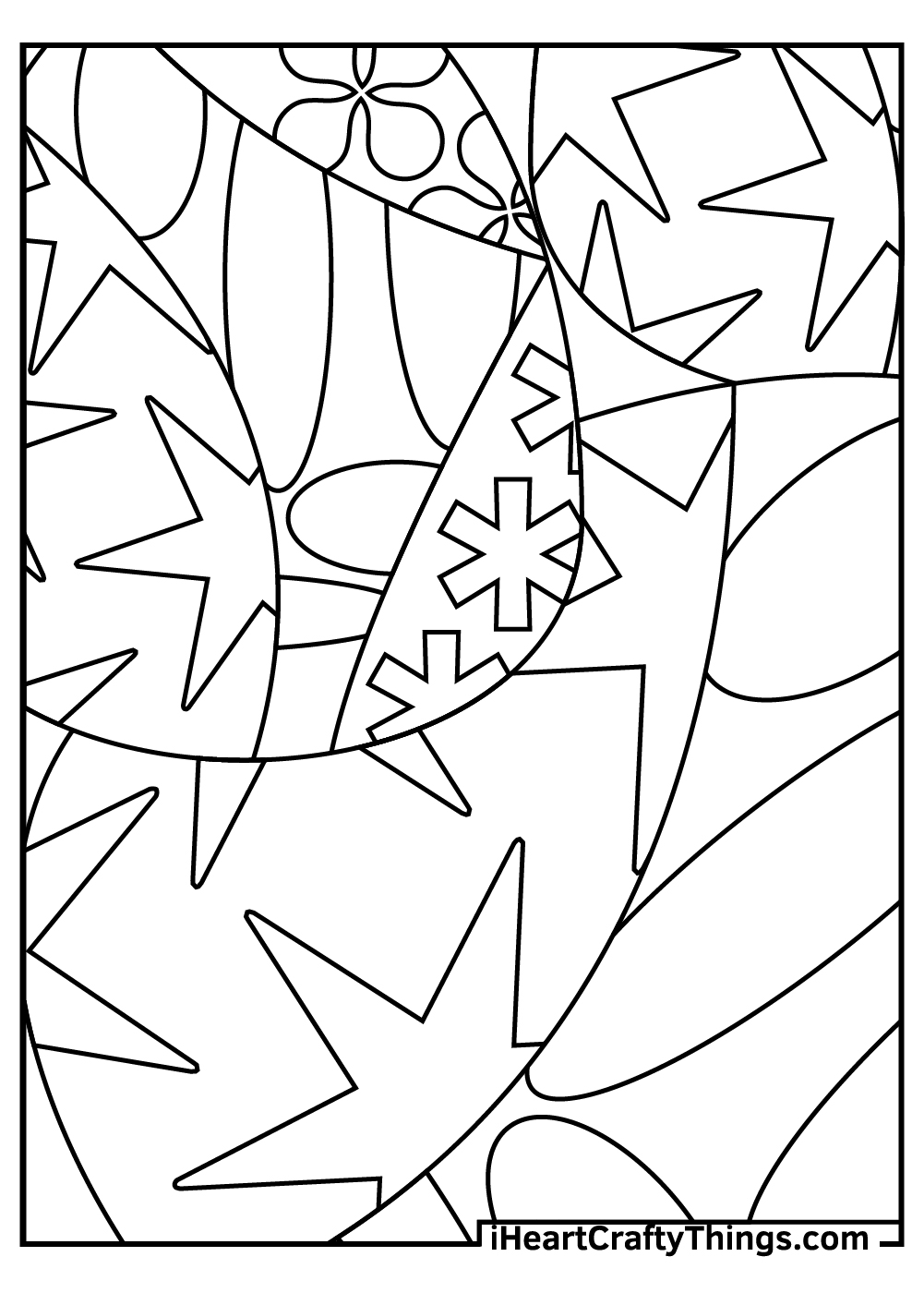 easy abstract coloring pages free printable