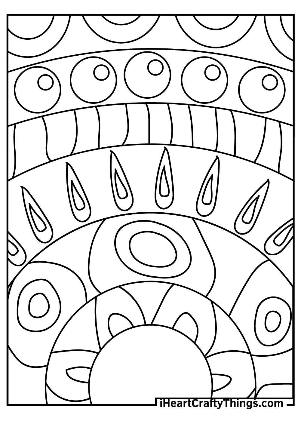 creative abstract coloring pages free download
