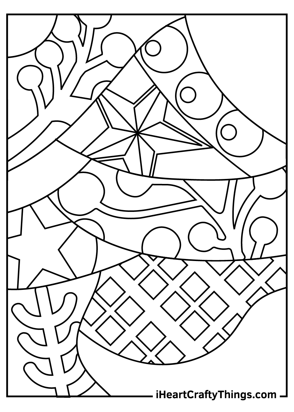 unique abstract coloring pages free printable