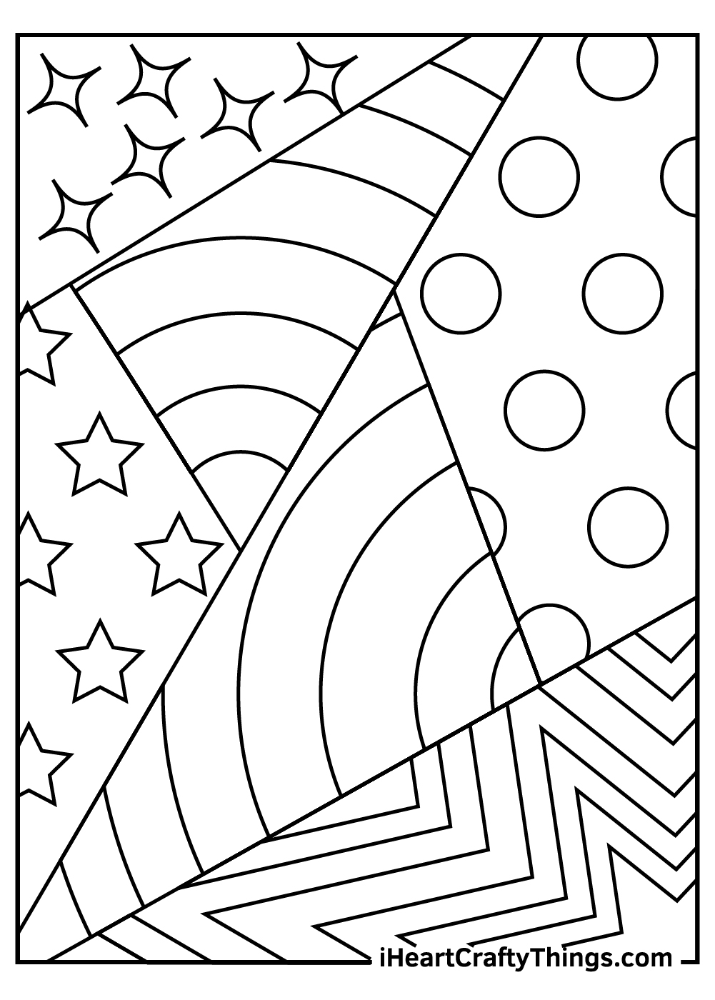 abstract coloring pages for kids free download