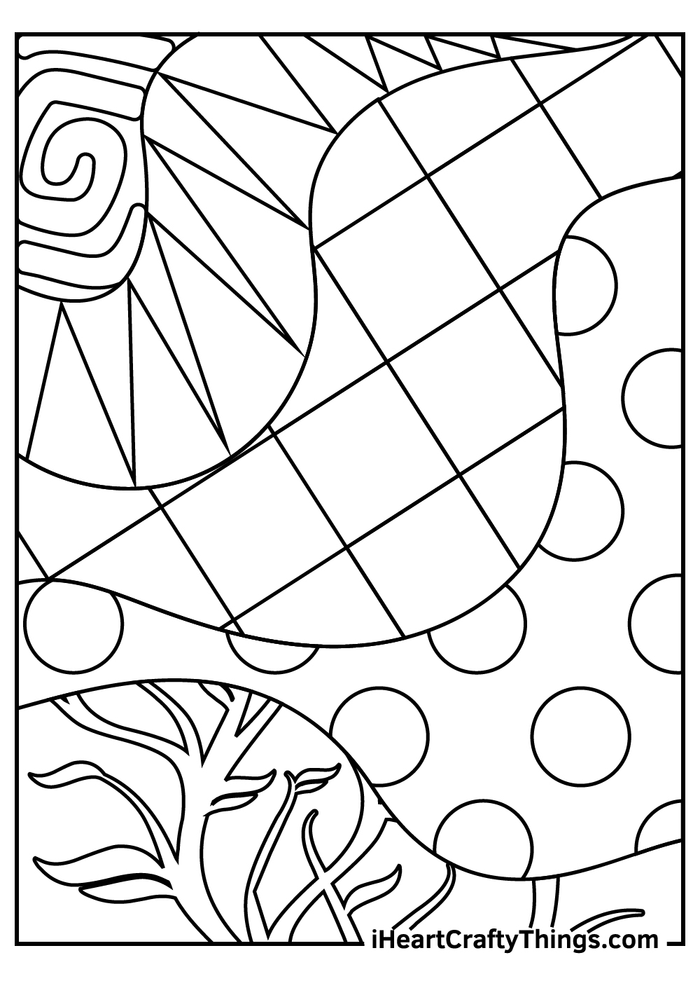 abstract coloring pages for preschoolers free download