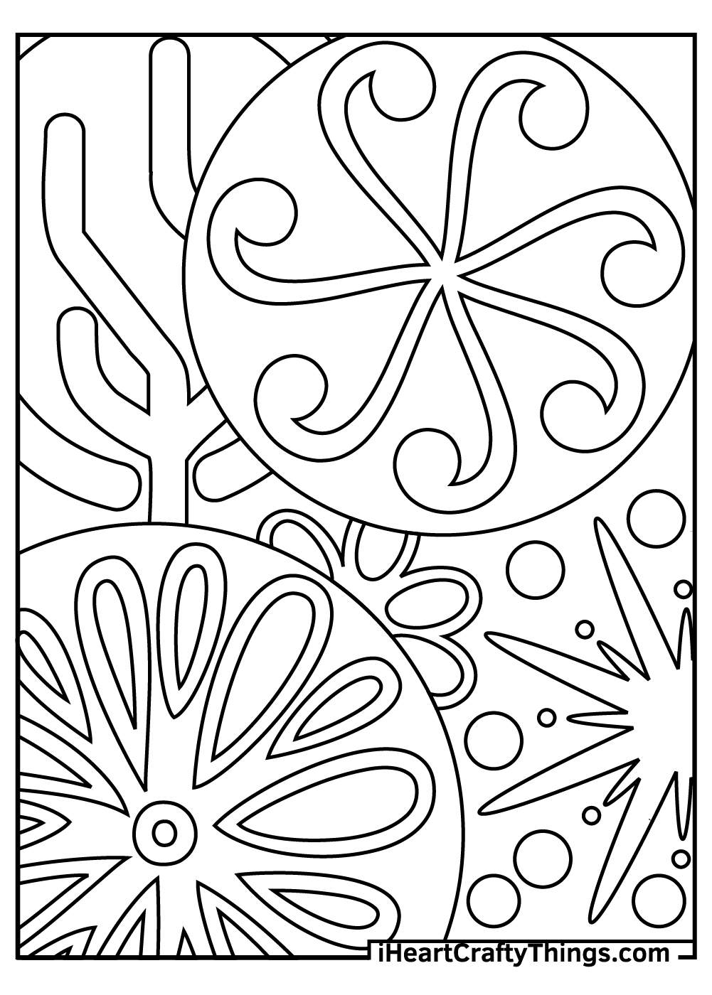 abstract coloring pages for parents free printables