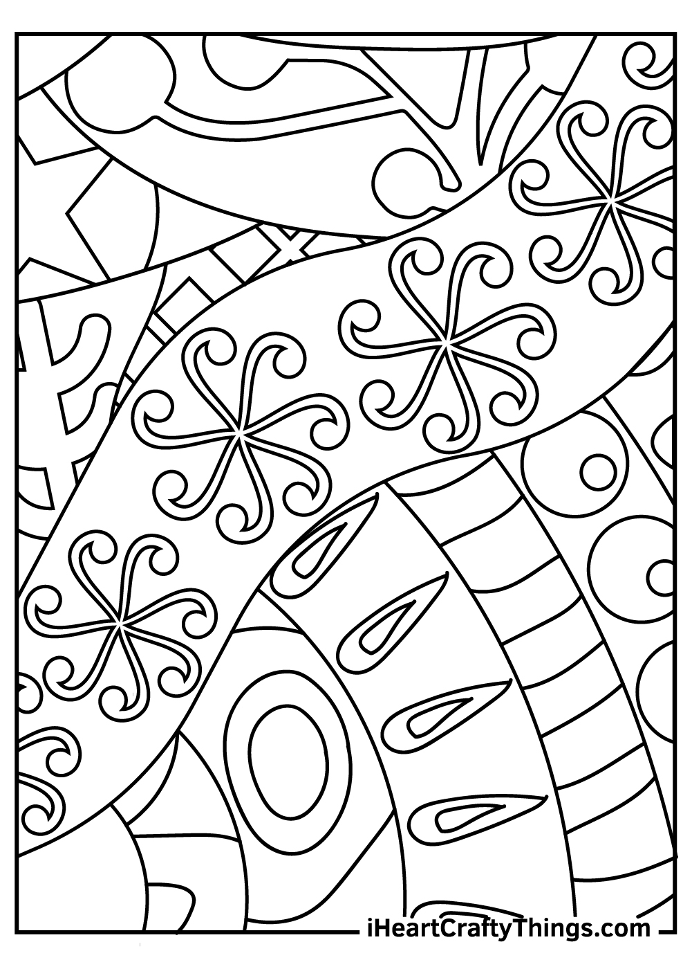 abstract coloring sheets for kids download pdf