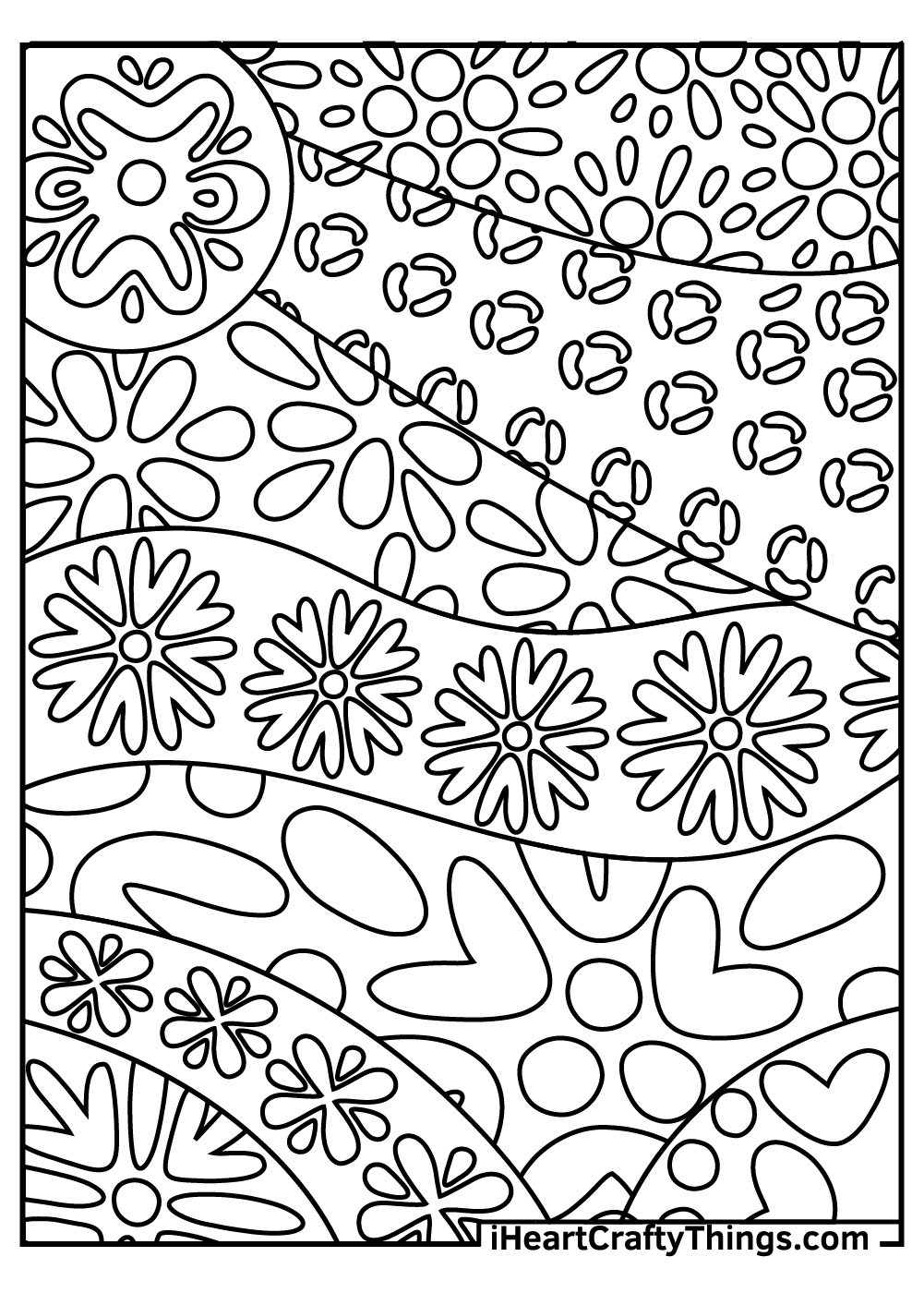 hard abstract coloring pages for kids free download