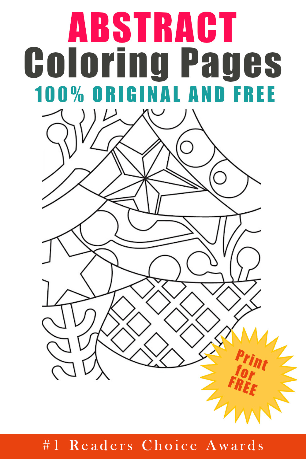 original and free abstract coloring pages