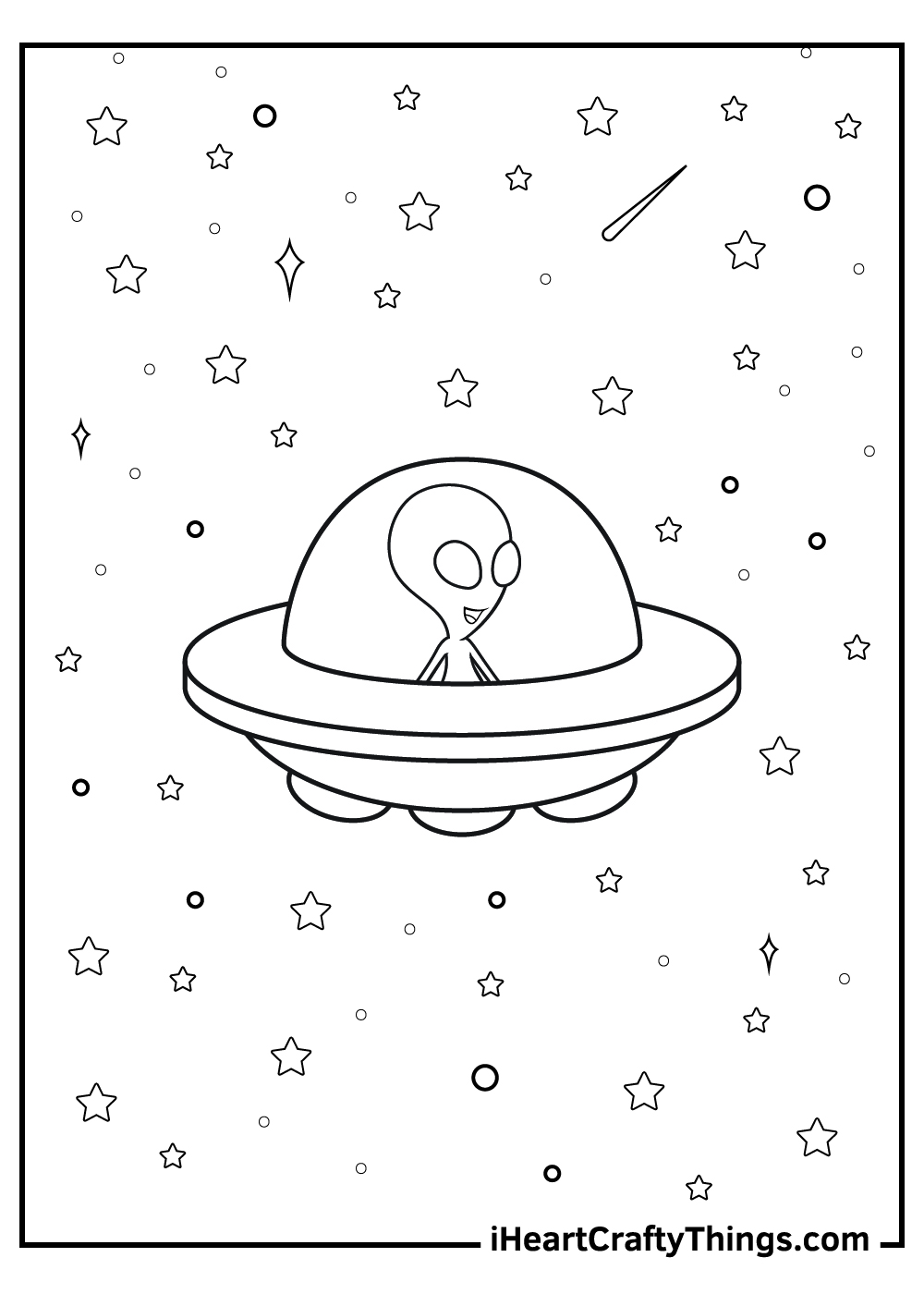 alien coloring pages for kids