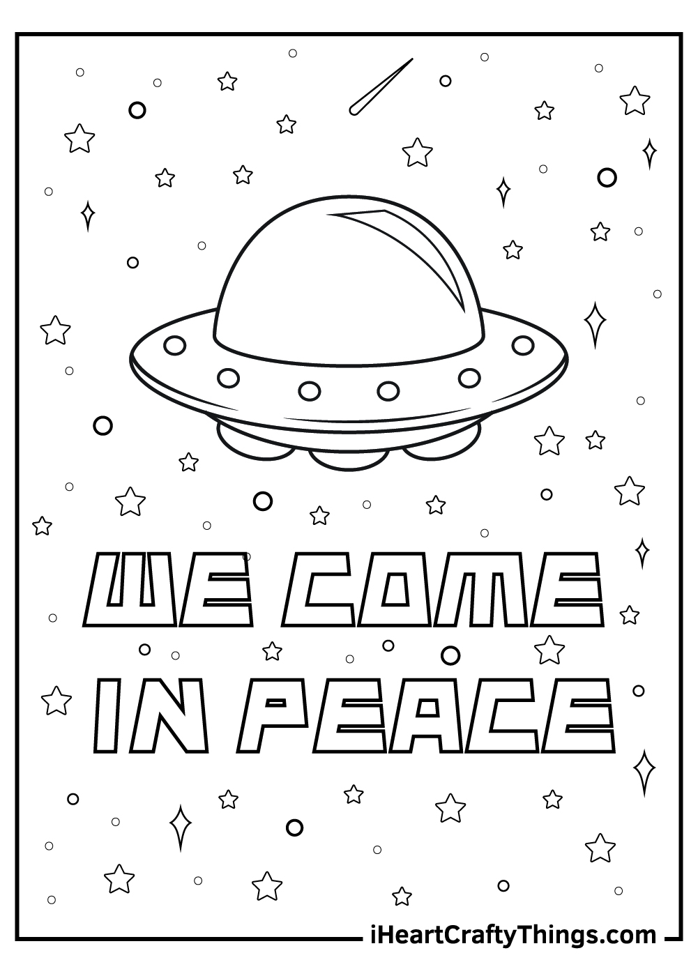 space alien coloring pages free printable